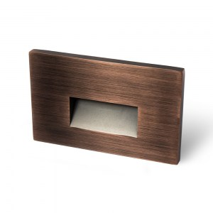Horizontal Recessed Oil Rubbed Bronze Screwless Trim