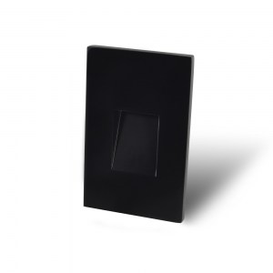 Vertical Recessed Black Screwless Trim