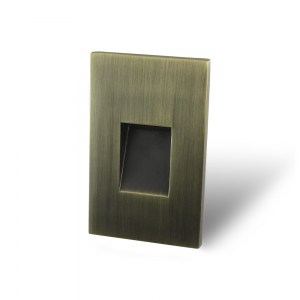 Vertical Recessed Brushed Bronze Screwless Trim