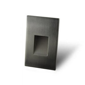 Vertical Recessed Brushed Nickel Screwless Trim